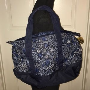 Blue Paisley Weekend Bag